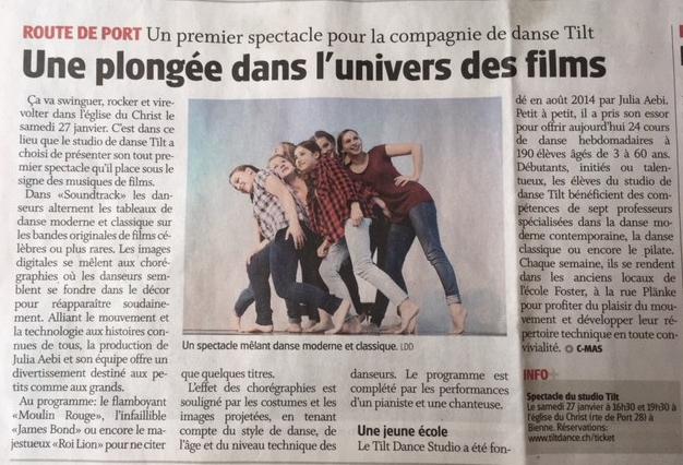 Journal du Jura 22 janvier